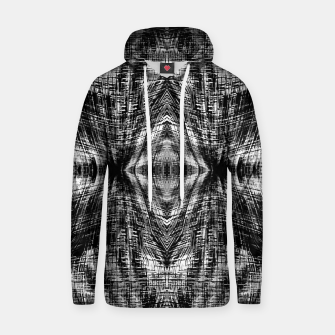 Thumbnail image of vintage geometric symmetry pattern abstract background in black and white Hoodie, Live Heroes