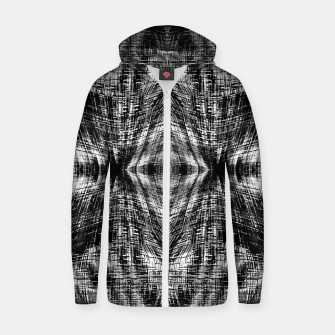 Thumbnail image of vintage geometric symmetry pattern abstract background in black and white Zip up hoodie, Live Heroes