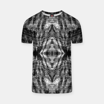 Thumbnail image of vintage geometric symmetry pattern abstract background in black and white T-shirt, Live Heroes