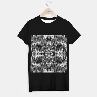 Thumbnail image of vintage geometric symmetry pattern abstract background in black and white T-shirt regular, Live Heroes