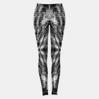 Thumbnail image of vintage geometric symmetry pattern abstract background in black and white Leggings, Live Heroes