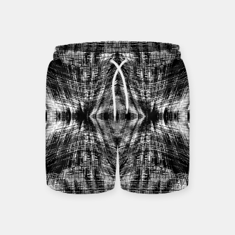 Thumbnail image of vintage geometric symmetry pattern abstract background in black and white Swim Shorts, Live Heroes