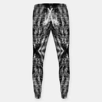 Thumbnail image of vintage geometric symmetry pattern abstract background in black and white Sweatpants, Live Heroes