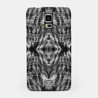 Thumbnail image of vintage geometric symmetry pattern abstract background in black and white Samsung Case, Live Heroes