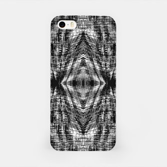 Thumbnail image of vintage geometric symmetry pattern abstract background in black and white iPhone Case, Live Heroes