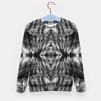 Thumbnail image of vintage geometric symmetry pattern abstract background in black and white Kid's sweater, Live Heroes