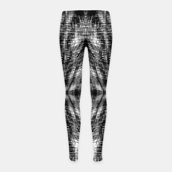 Thumbnail image of vintage geometric symmetry pattern abstract background in black and white Girl's leggings, Live Heroes