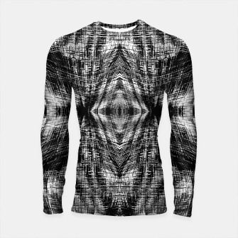 Thumbnail image of vintage geometric symmetry pattern abstract background in black and white Longsleeve rashguard , Live Heroes