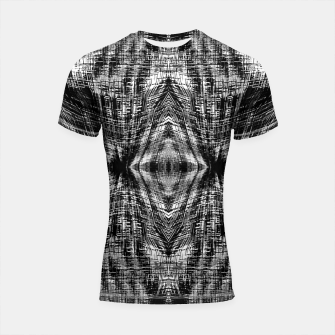Thumbnail image of vintage geometric symmetry pattern abstract background in black and white Shortsleeve rashguard, Live Heroes