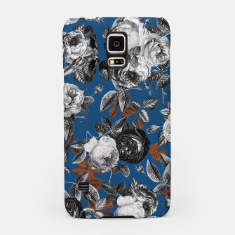 Thumbnail image of Romantic Black White Roses on Blue Samsung Case, Live Heroes