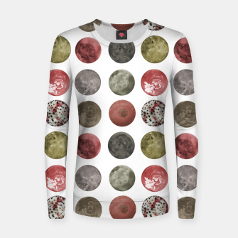 Thumbnail image of Watercolor Planets Spheres Pattern Women sweater, Live Heroes