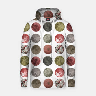 Thumbnail image of Watercolor Planets Spheres Pattern Hoodie, Live Heroes