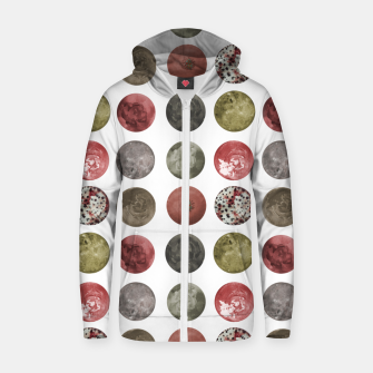 Thumbnail image of Watercolor Planets Spheres Pattern Zip up hoodie, Live Heroes