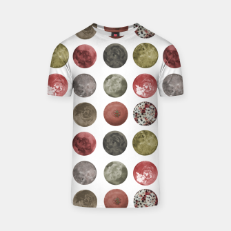 Thumbnail image of Watercolor Planets Spheres Pattern T-shirt, Live Heroes