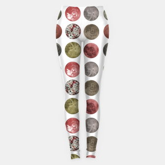 Thumbnail image of Watercolor Planets Spheres Pattern Leggings, Live Heroes