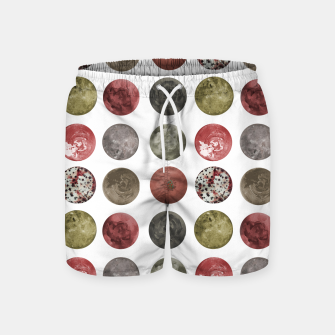 Thumbnail image of Watercolor Planets Spheres Pattern Swim Shorts, Live Heroes
