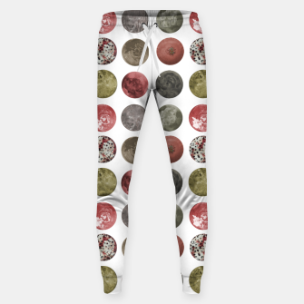 Thumbnail image of Watercolor Planets Spheres Pattern Sweatpants, Live Heroes