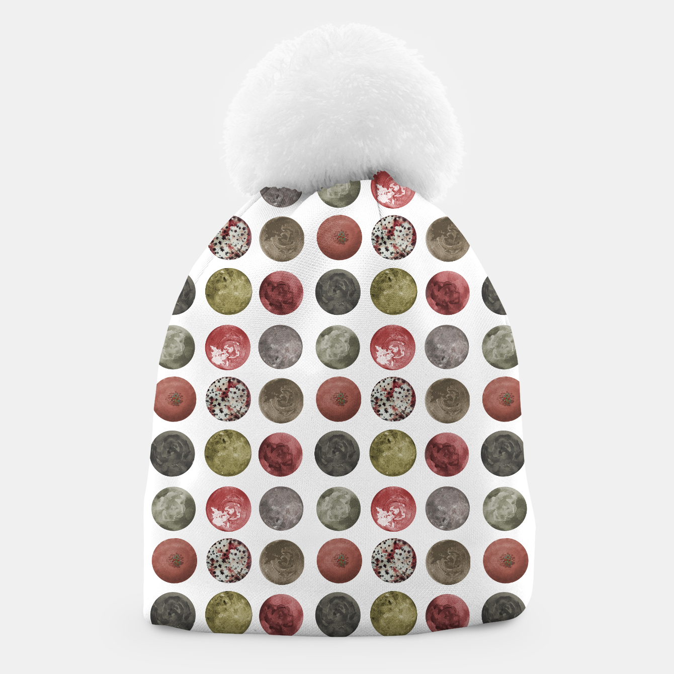 Image of Watercolor Planets Spheres Pattern Beanie - Live Heroes