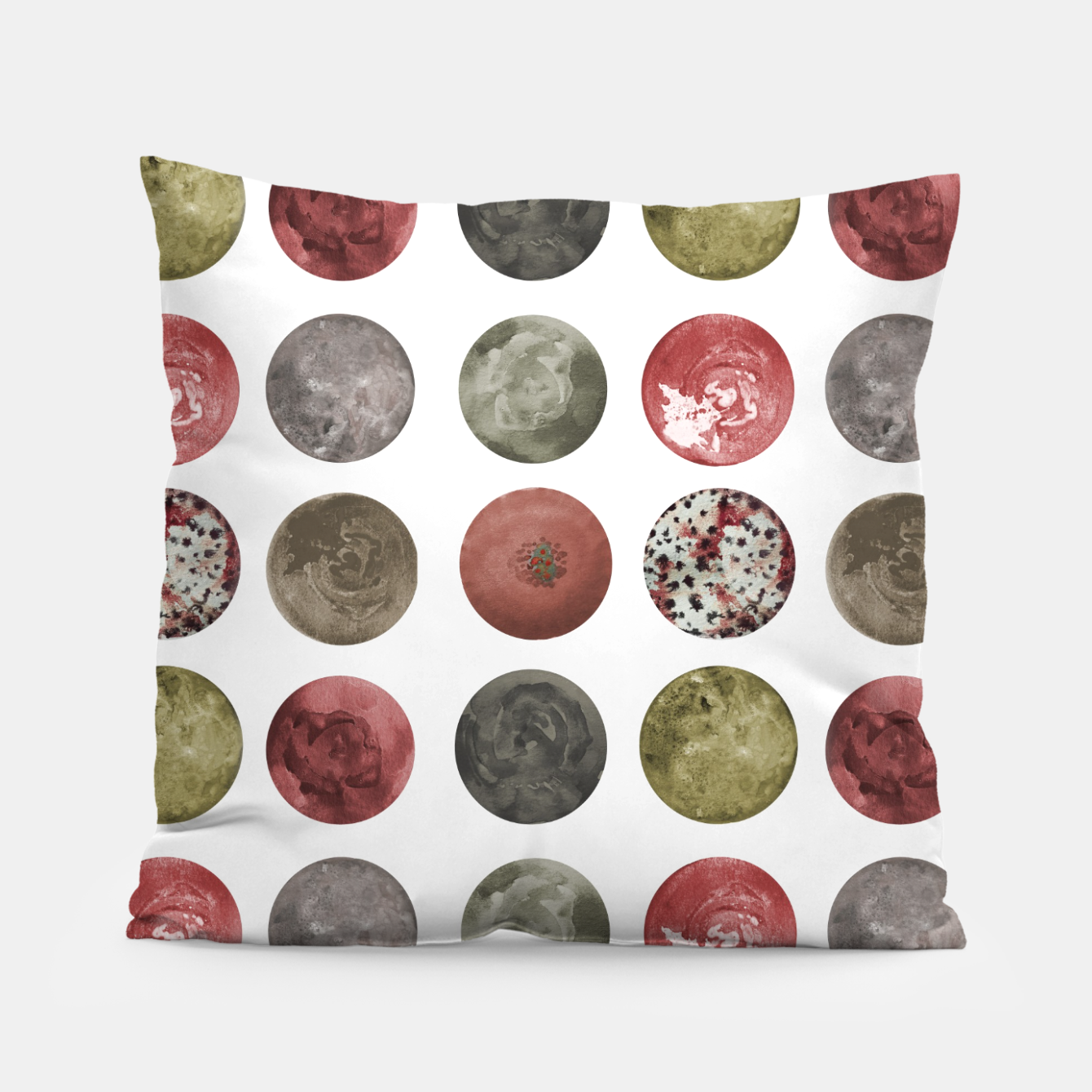 Image of Watercolor Planets Spheres Pattern Pillow - Live Heroes