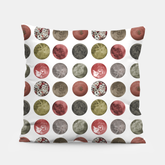 Thumbnail image of Watercolor Planets Spheres Pattern Pillow, Live Heroes