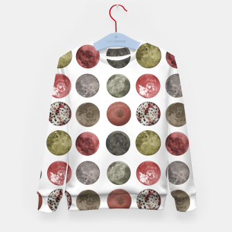Thumbnail image of Watercolor Planets Spheres Pattern Kid's sweater, Live Heroes