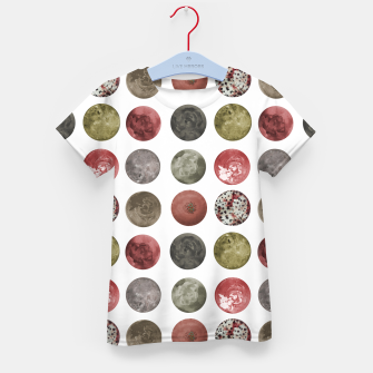 Thumbnail image of Watercolor Planets Spheres Pattern Kid's t-shirt, Live Heroes