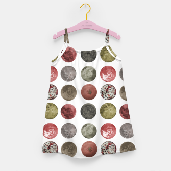 Thumbnail image of Watercolor Planets Spheres Pattern Girl's dress, Live Heroes