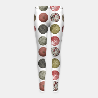 Thumbnail image of Watercolor Planets Spheres Pattern Girl's leggings, Live Heroes