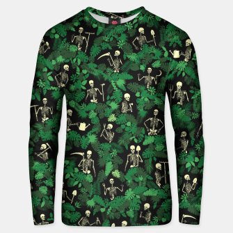 Thumbnail image of Garden Of Lost Souls Goth Gardener Skeleton Pattern Unisex sweater, Live Heroes
