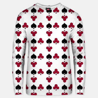Playing cards black red Unisex sweater thumbnail image