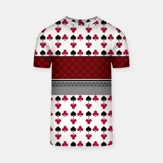 Thumbnail image of Playing cards poker black red T-shirt, Live Heroes