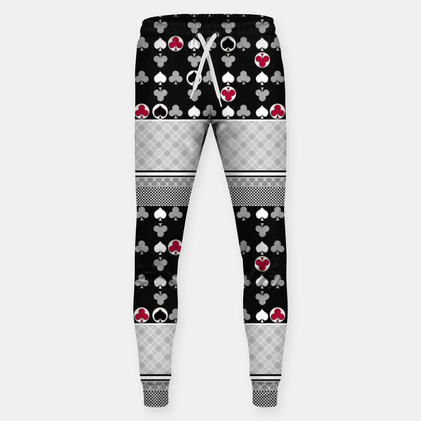 Image of Playing cards poker black red Sweatpants - Live Heroes