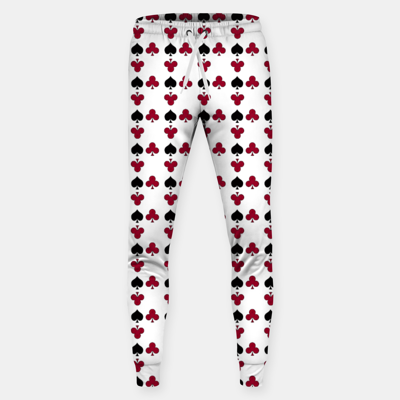 Image of Playing cards black red Sweatpants - Live Heroes