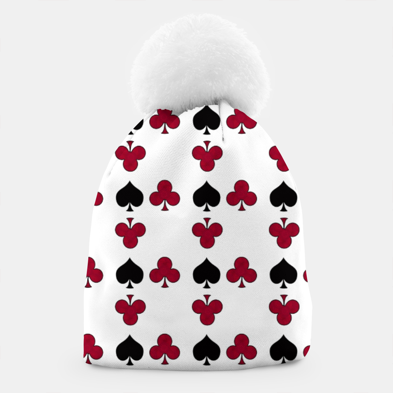 Image of Playing cards black red Beanie - Live Heroes
