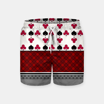 Thumbnail image of Playing cards poker black red Swim Shorts, Live Heroes