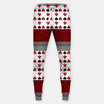Thumbnail image of Playing cards poker black red Sweatpants, Live Heroes