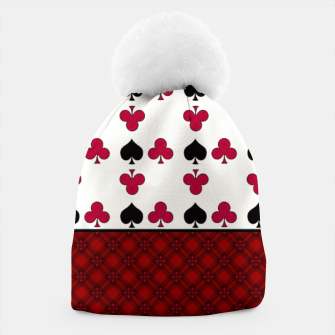 Thumbnail image of Playing cards poker black red Beanie, Live Heroes