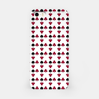 Thumbnail image of Playing cards black red iPhone Case, Live Heroes