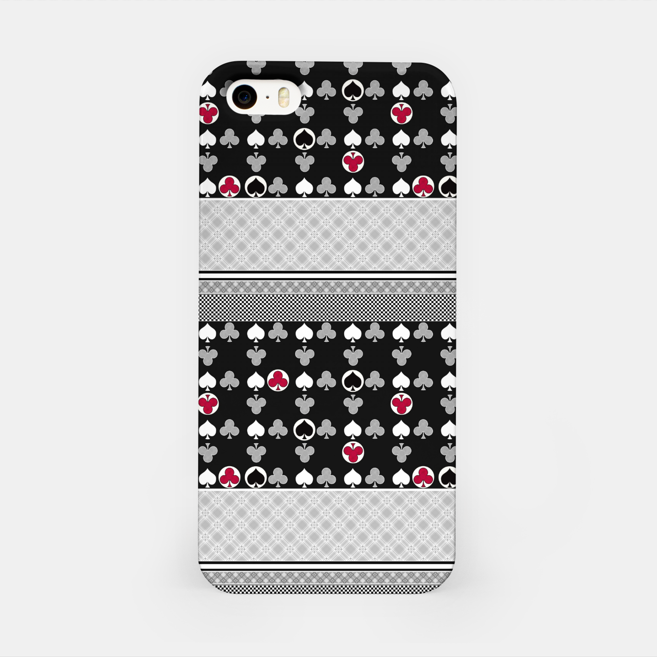 Image of Playing cards poker black red iPhone Case - Live Heroes