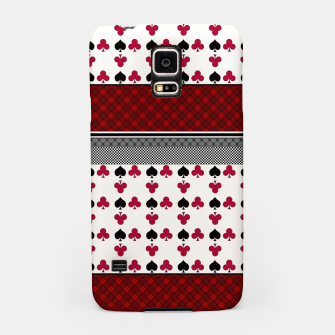 Thumbnail image of Playing cards poker black red Samsung Case, Live Heroes