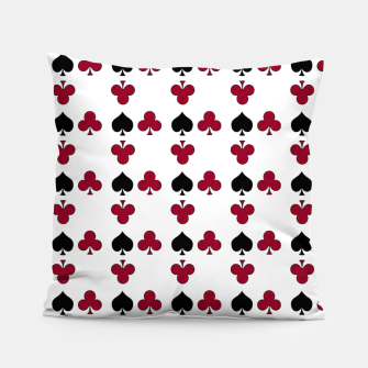 Thumbnail image of Playing cards black red Pillow, Live Heroes