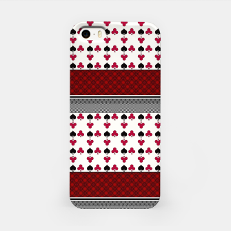 Thumbnail image of Playing cards poker black red iPhone Case, Live Heroes