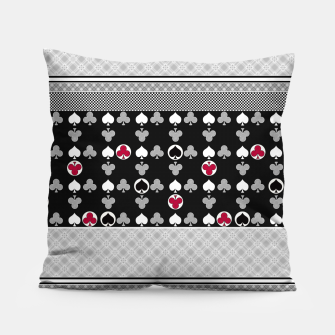 Thumbnail image of Playing cards poker black red Pillow, Live Heroes
