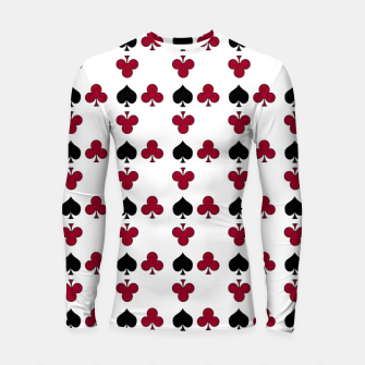 Thumbnail image of Playing cards black red Longsleeve rashguard , Live Heroes