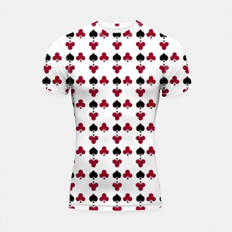 Thumbnail image of Playing cards black red Shortsleeve rashguard, Live Heroes