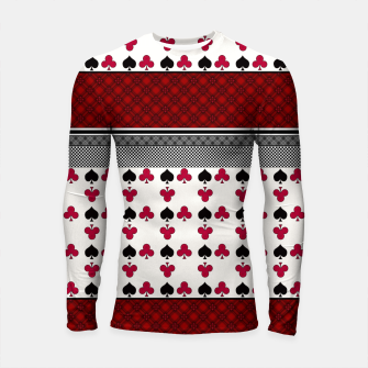 Thumbnail image of Playing cards poker black red Longsleeve rashguard , Live Heroes