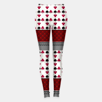 Thumbnail image of Playing cards poker black red Leggings, Live Heroes