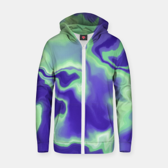 Thumbnail image of Abstract electric 25 Sudadera con capucha y cremallera , Live Heroes