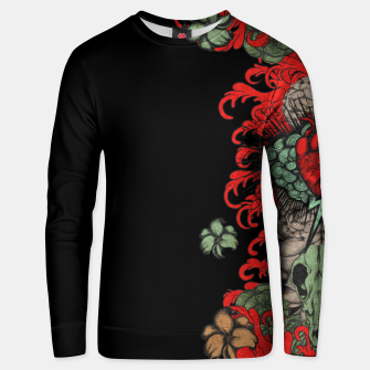 Thumbnail image of Heart Sleeve Unisex sweater, Live Heroes