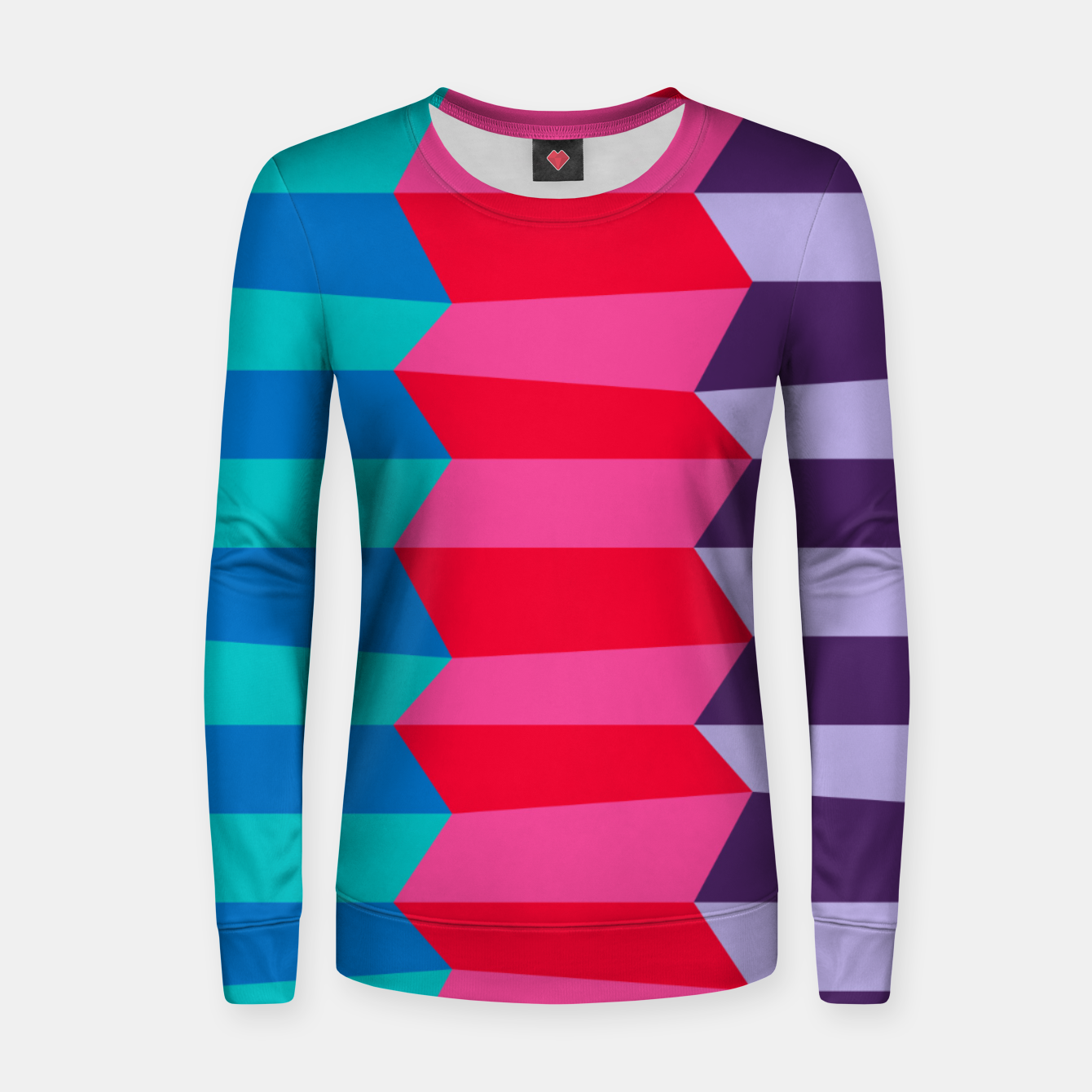 Image of Retro Stripes Women sweater - Live Heroes